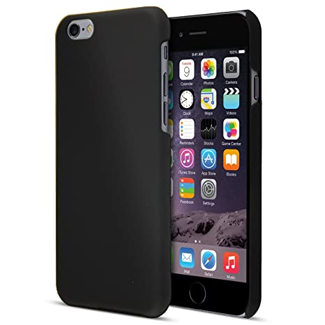 save off 823f0 28a27 Black iPhone 6S Plus Case, Thin Hybrid Matte Hard Case and Screen Protector  for iPhone 6S Plus and iPhone 6 Plus Cover [5.5