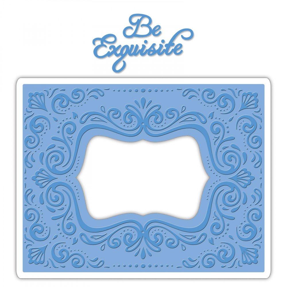 Sizzix Impresslits Embossing Folder Aquarius Frame (8 Pack)
