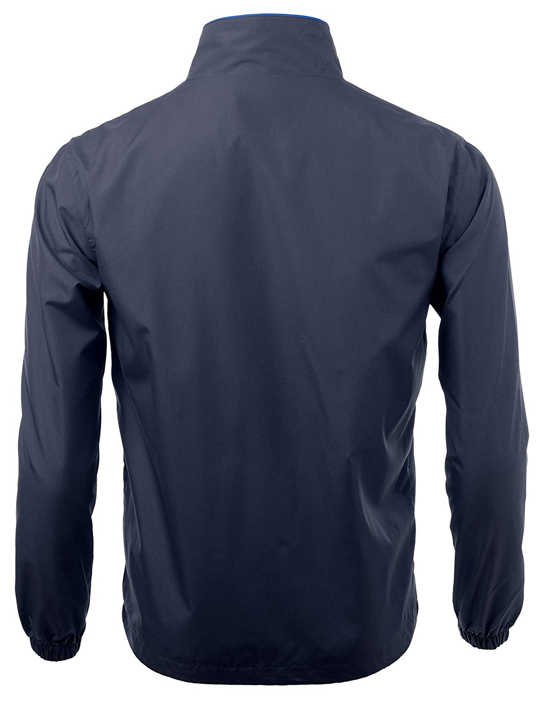 Xpril Mens 2-tone Vivid Color sporty design Full zip up outdoor Jacket