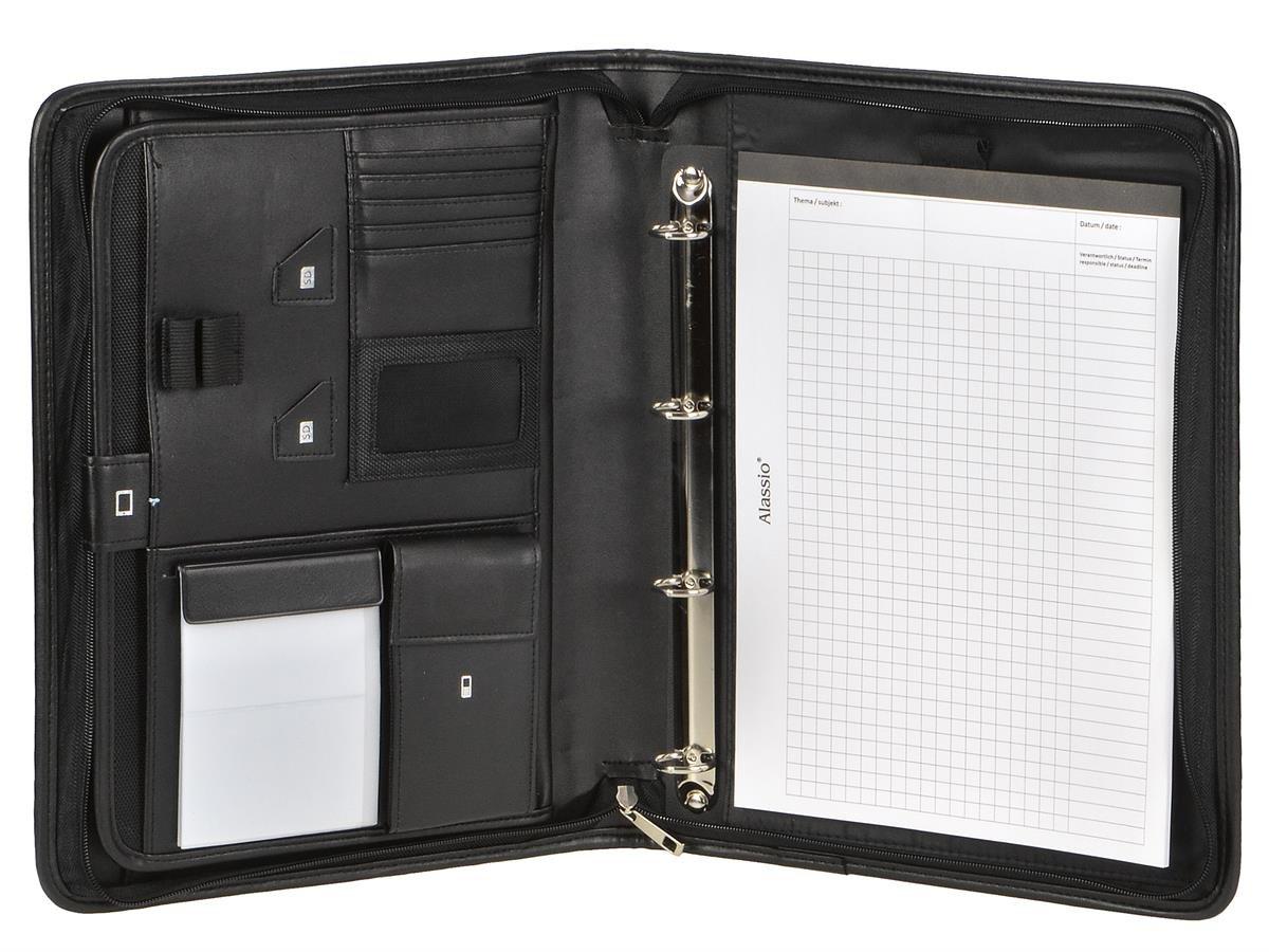 Portadocumentos (A4, negro con 20 mm Anillas y compartimento para tablet + 100 fundas: Amazon.es: Oficina y papelería