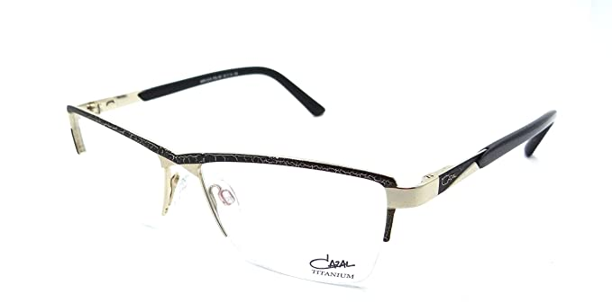 86ccd31f6c Amazon.com  Cazal Rx Eyeglasses Frames 4218 001 55x15 Black   Gold ...