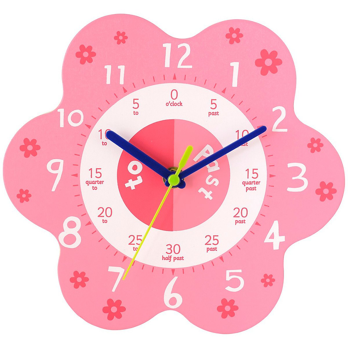 Early learning centre wall clock pink amazon toys games amipublicfo Image collections