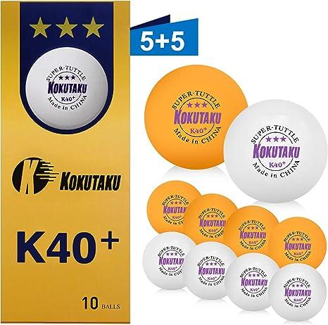 dernières tendances conception adroite qualité incroyable Balle de tennis de table 3 étoiles blanche/orange, set de ...