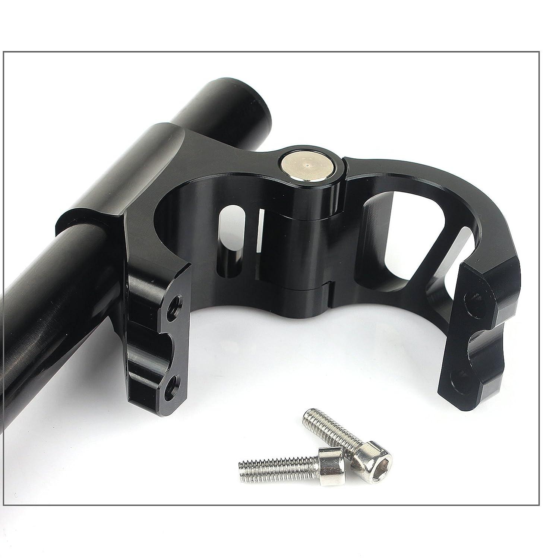 TARAZON 7//8 22mm Lenkerstummel Stummellenker Clip ons 38mm schwarz f/ür KAWASAKI YAMAHA Universal