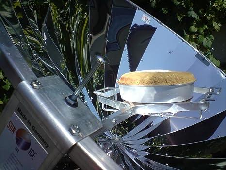 Unbekannt Verdes Regalo Idea - solarofen 140 cm, Solar eléctrica con Espejo y parabólica 700 W Potencia Medio Ambiente Amigos: Amazon.es: Jardín