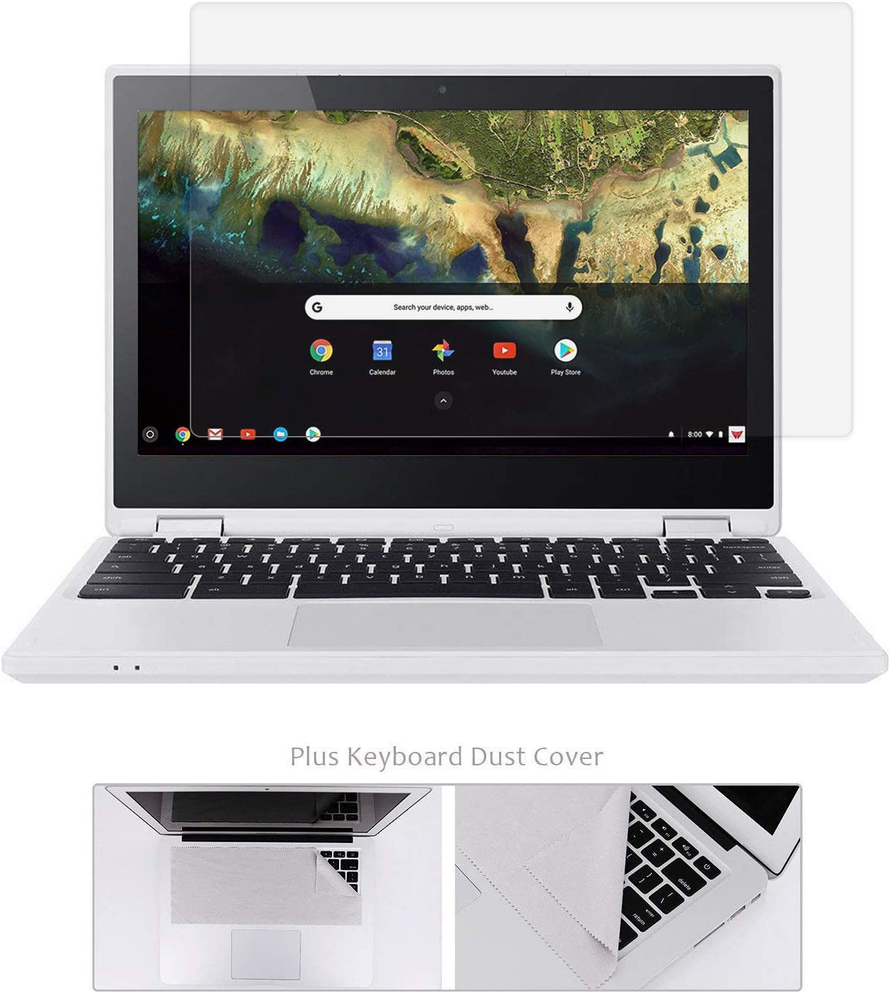"""11.6"""" Chromebook Glass Screen Protector Compatible with Acer Chromebook R11 /Lenovo Chromebook C330 /ASUS Chromebook 11.6"""" /Samsung Chromebook 3 11.6"""" /Dell ChromeBook 11/HP ChromeBook 11"""