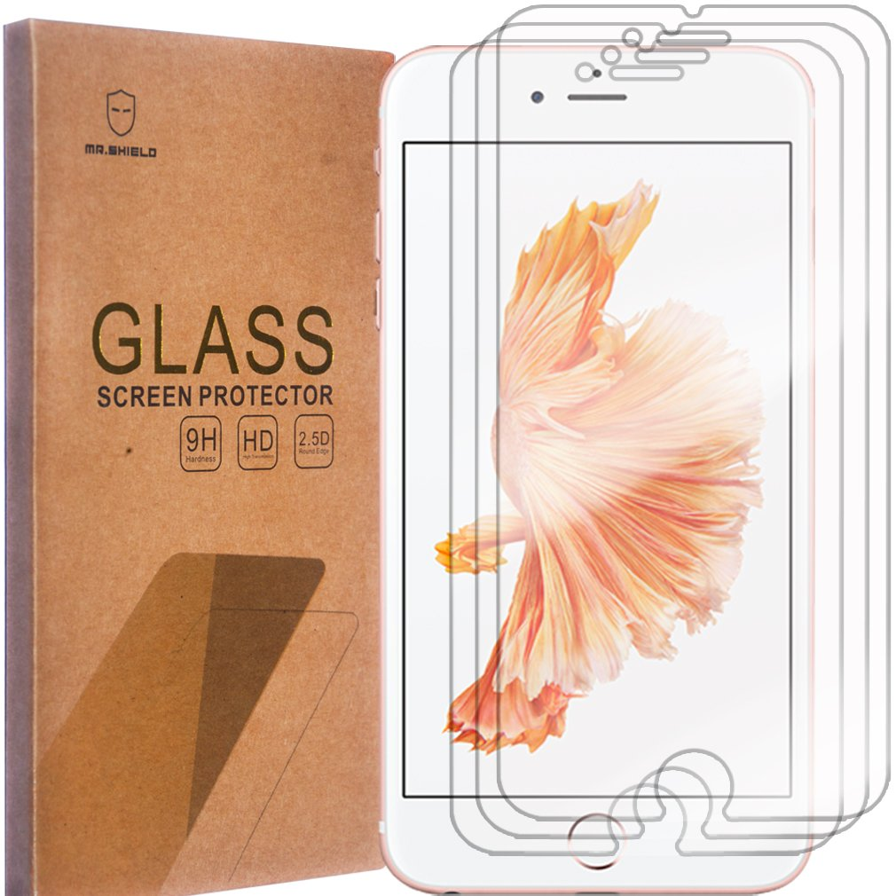 [3-PACK]-Mr.Shield For iPhone 6 Plus / iPhone 6S Plus [Tempered Glass] Screen Protector with Lifetime Replacement