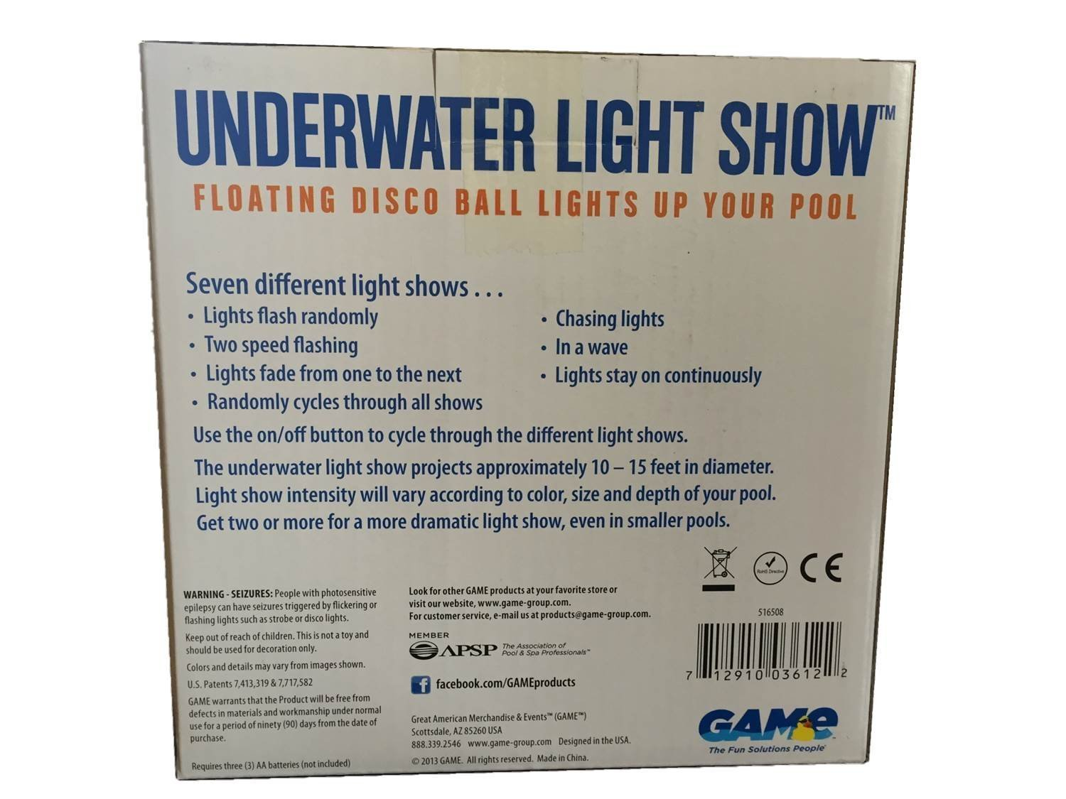 amazon swimming pool floating disco ball underwater light show by