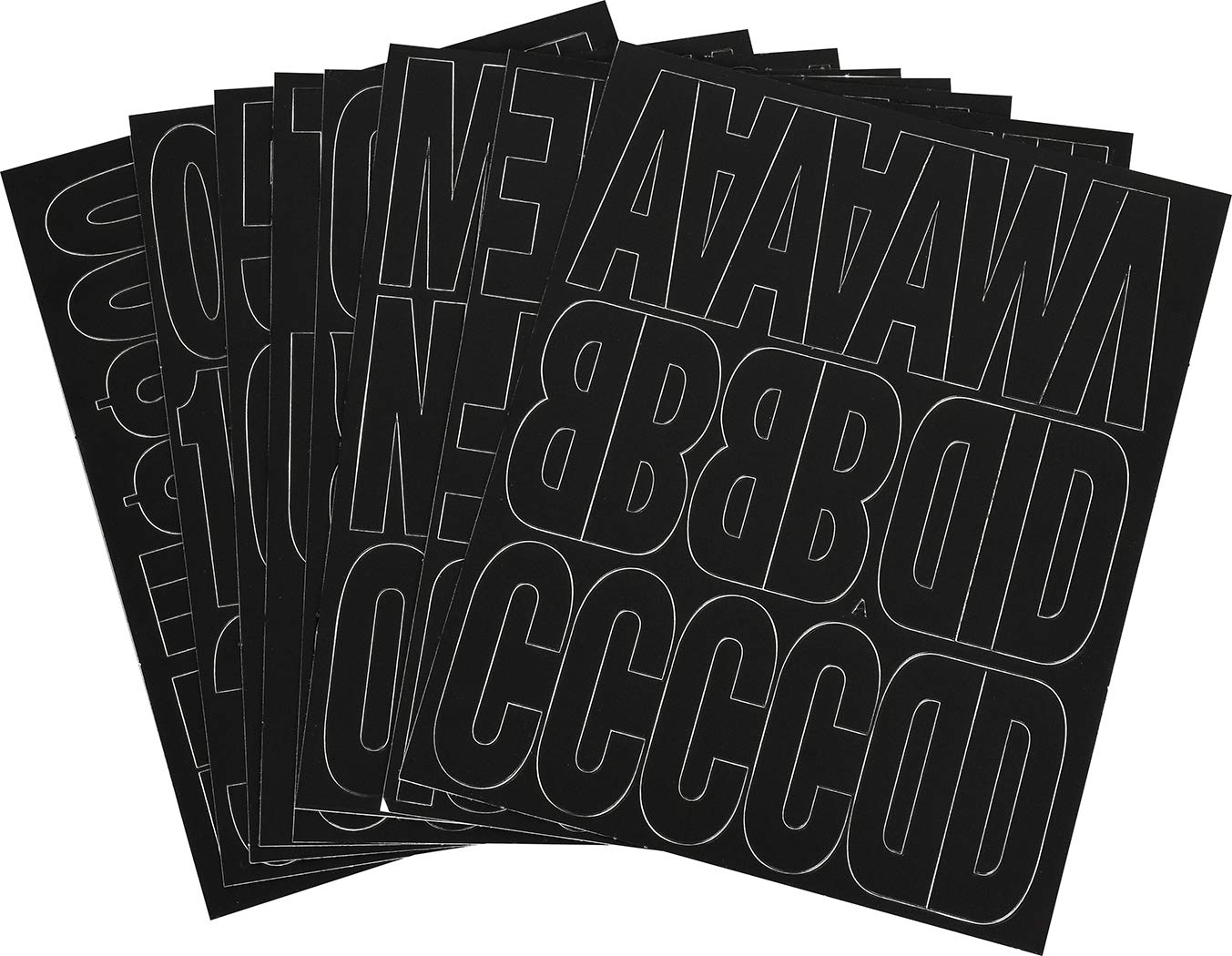 The Hillman Group 847017 3-Inch Die-Cut Letters//Numbers Kit White