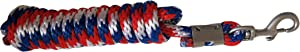 TGW RIDING 10' Poly Lead Rope Tri-Colored Nylon Horse Lead Rope