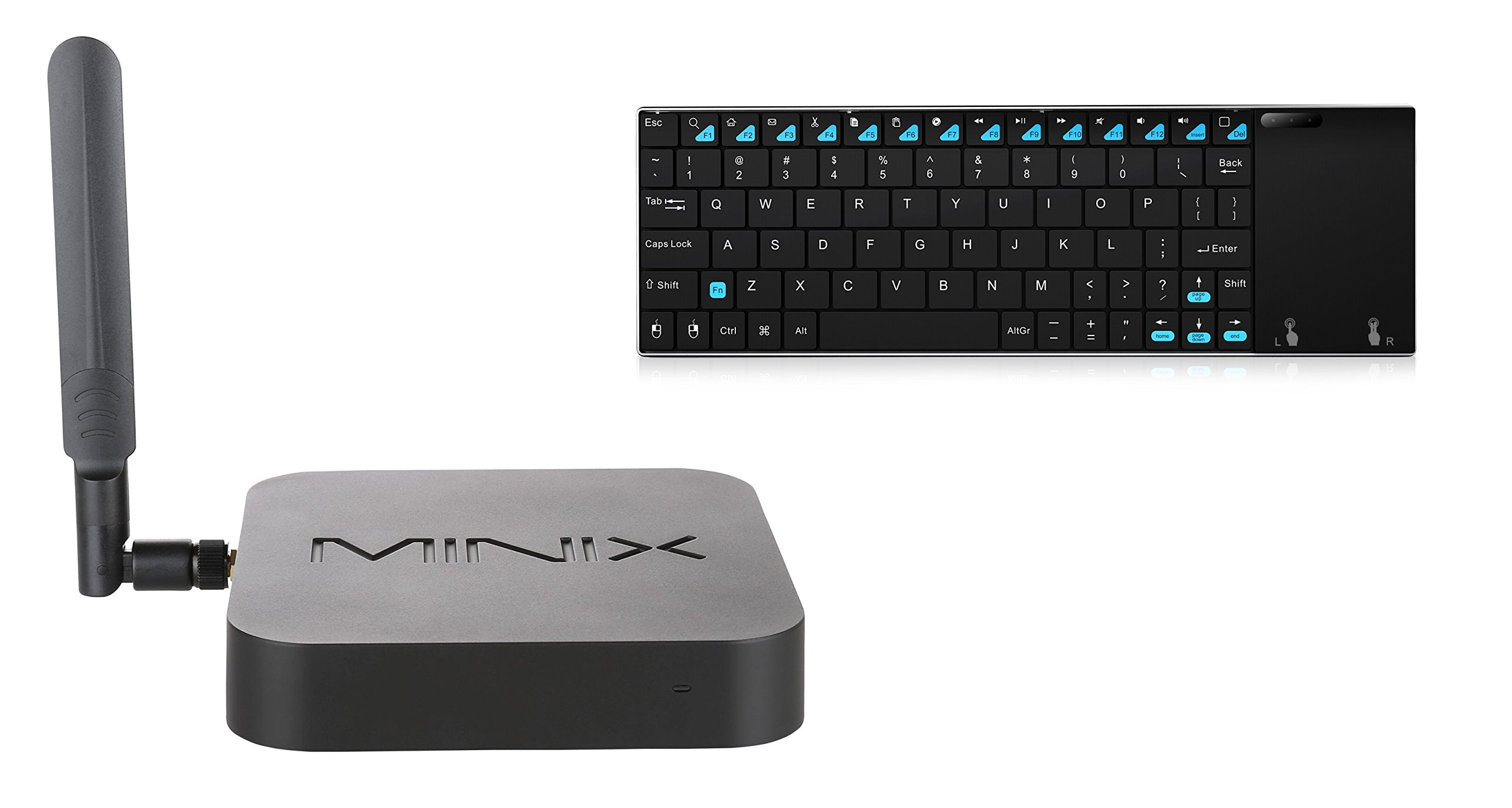 MINIX NEO Z83-4 + MINIX NEO K2, Intel Cherry Trail Fanless Mini PC Windows 10 (64-bit) & Wireless Keyboard and Touchpad. Sold Directly by MINIX Technology Limited.