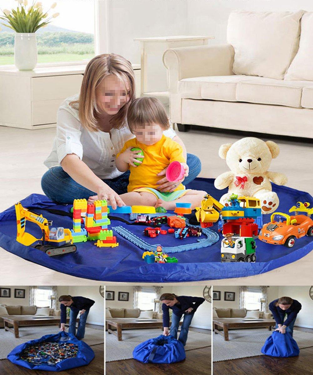 xhforever 150 cm Bambini Stuoia Del Gioco Del Bambino Grandi Sacchi di Stoccaggio Scatole Organizer Giocattoli Tappeto Coperta