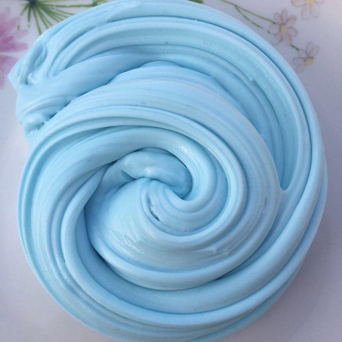 (50g, BABY BLUE) FLUFFY SLIME FAT STRETCHY BUTTER FLOAM NON TOXIC SAFE AND WASHABLE PUTTY STRESS RELIEF SENSORY TOY ADHT ASMR NO BORAX DELICIOUS BUBBLEGUM FRAGRANCE! VAGTZEMGKIN