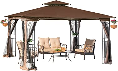 sunjoy l gz798pst e regency ii gazebo with mosquito netting