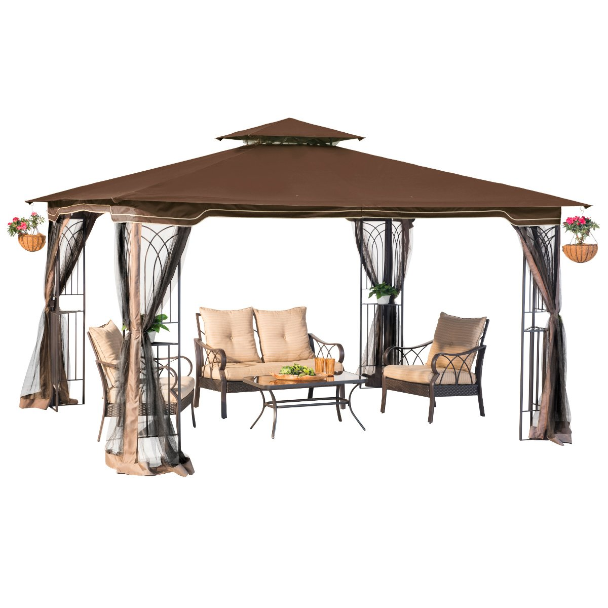 10 x 12 Regency II Patio Gazebo with Mosquito Netting by sunjoy