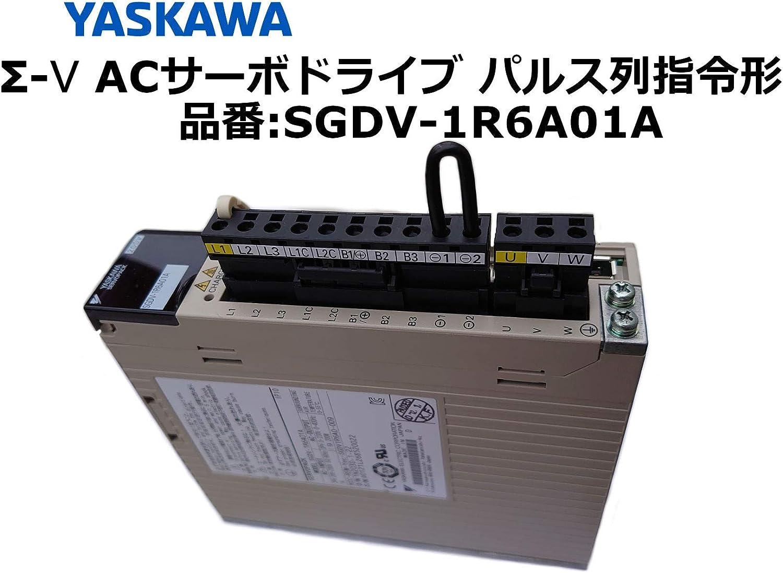 安川電機 Σ-Ⅴ ACサーボドライブ パルス列指令形SGDV-1R6A01Aアナログ電圧・パルス列指令形(回転形サーボモーター用)三相AC200 モーター容量(kW) 0.2