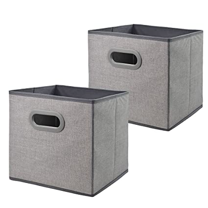 Cloth Storage Bins Cubes Boxes Fabric Baskets ContainersFoldable Closet Shelf Nursery Drawer Organizer for  sc 1 st  Amazon.com & Amazon.com: Cloth Storage Bins Cubes Boxes Fabric Baskets Containers ...
