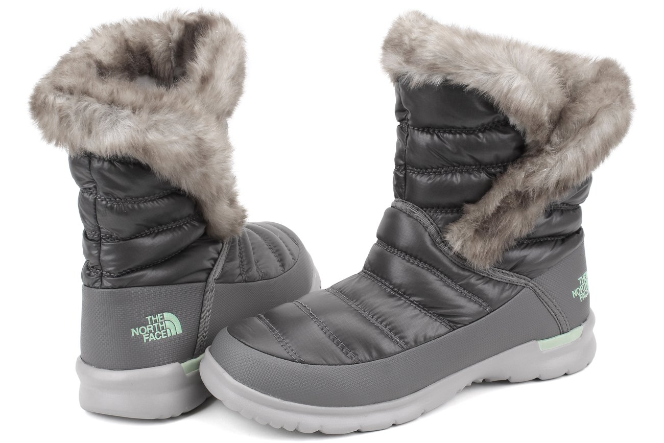 The North Face Womens Thermoball Microbaffle Bootie II B0195K4VSW 10 B(M) US|Shiny Smoked Pearl Grey/Subtle Green (Prior Season)