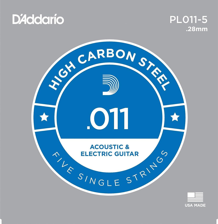 D'Addario PL011-5 - Juego de cuerdas para guitarra acústica de acero