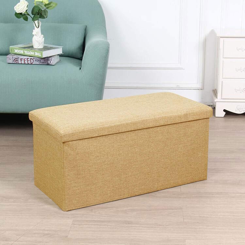 Admirable Amazon Com Tcgyx Ottoman Linen Fabric Folding Storage Inzonedesignstudio Interior Chair Design Inzonedesignstudiocom