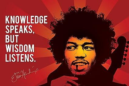 Design Merchants Jimi Hendrix Quotes Paper Print Poster ...