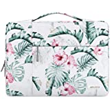MOSISO Laptop Briefcase Handbag Compatible with 13-13.3 inch MacBook Air, MacBook Pro, Notebook Computer,Polyester Multifunctional Sleeve Bag, Banana Leaf