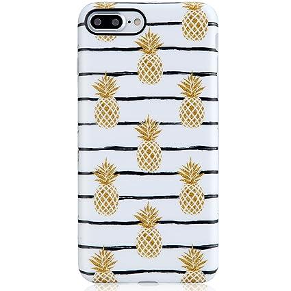 Cute Iphone 7 Plus Case Pineapplesiphone 8 Plus Casevivibin Shock Absorption Matte Tpu Soft Rubber Silicone Cover Phone Case For Iphone 7 Plus 8