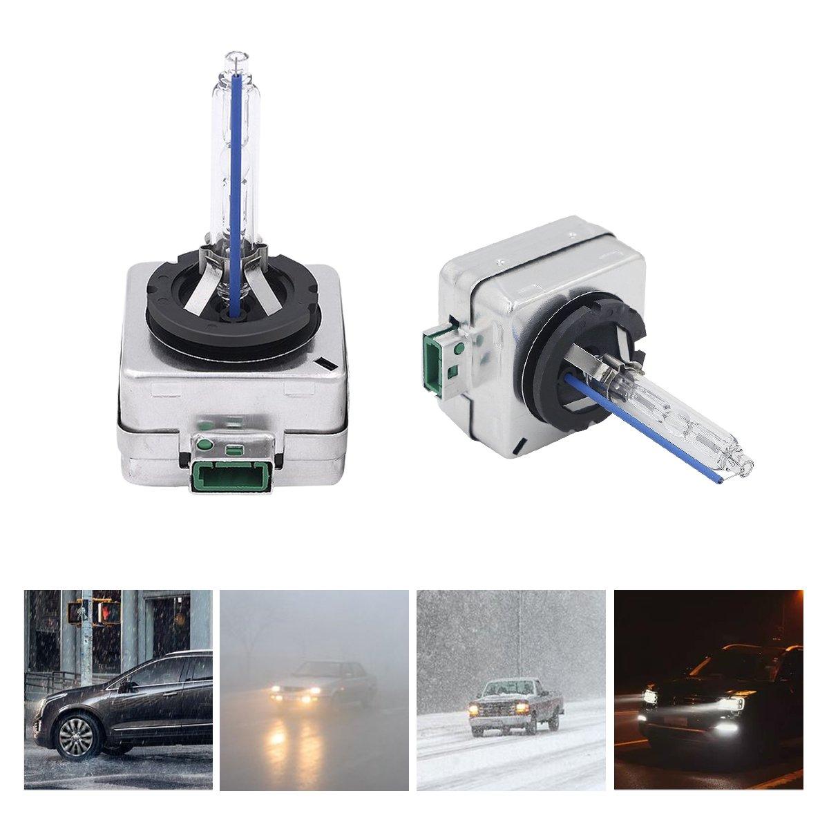 HID D1S/D3S 6000 K auto lampadine allo Xenon 35 W sostituisce lampadine faro 2 pezzi Carrep