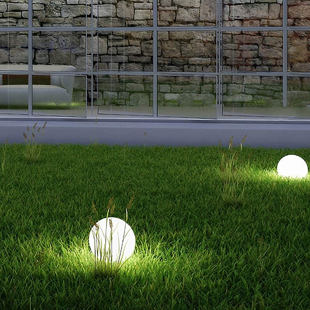 2X LED SOLAR-Leuchte Außen-Leuchte Gartenleuchte Haus Hof KUGEL Lampe Licht