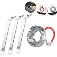 LETUSPORT Bike Tool Spoke Wrench Adjuster Rim Truing kit and Tire Lever Spoon Set of 5