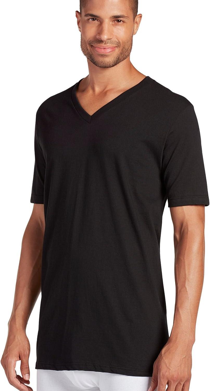 Jockey Mens Cotton V-Neck T-Shirt 3-Pack