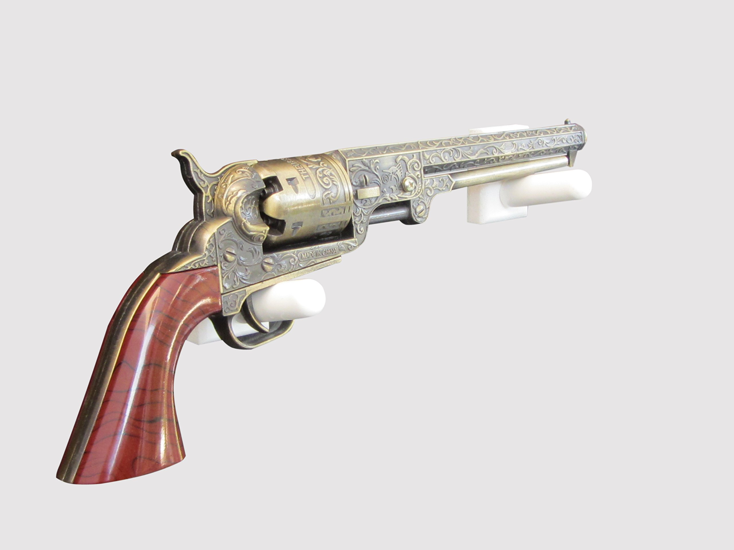 Gun Ideas Horizontal Wall Mount for a Civil War Revolver (Made in the USA) (White)