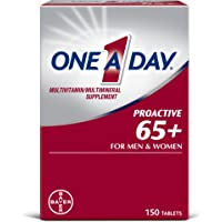 One A Day Proactive 65+, Mens & Womens Multivitamin, Supplement with Vitamin A, Vitamin C, Vitamin D, and Zinc for…