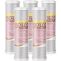 5-delige Notendop Actieve Kool Waterzuiveraar, Cto Precisie Verbranding Gecomprimeerde Actieve Kool Filter…