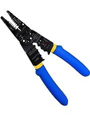 S&R Alicate para terminales y cables coaxiales 210mm / Alicate Electricista Multifunción: Crimpar - Pelacable