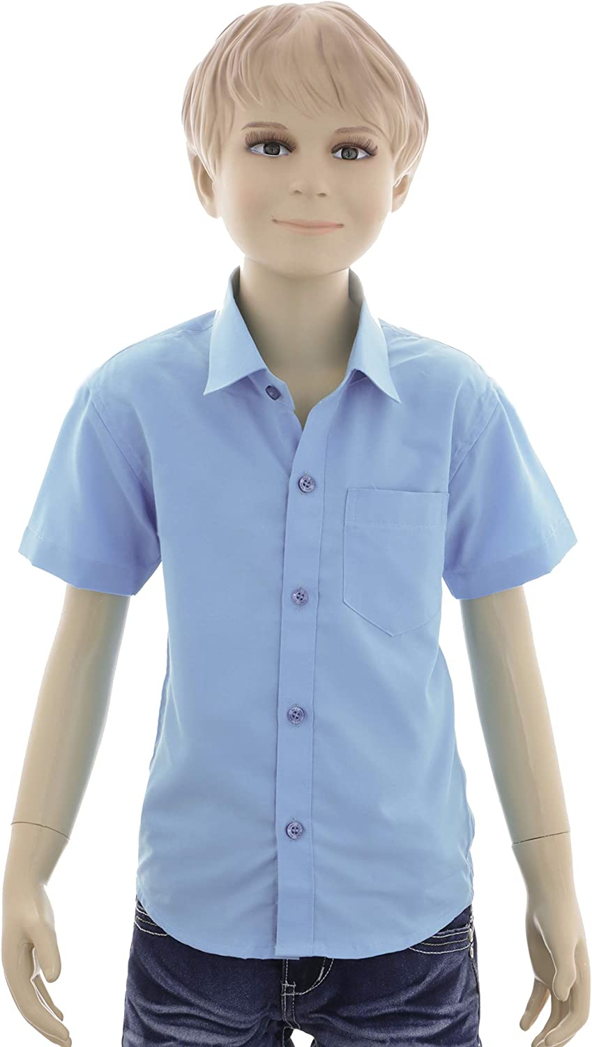 Gillsonz A70vDa Childrens Party Shirt Casual Shirt Easy to Iron Short Sleeve 7 Colours Size 86-158