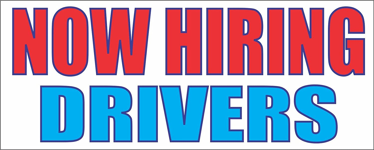 Now Hiring Drivers 2x5 Banner Sign