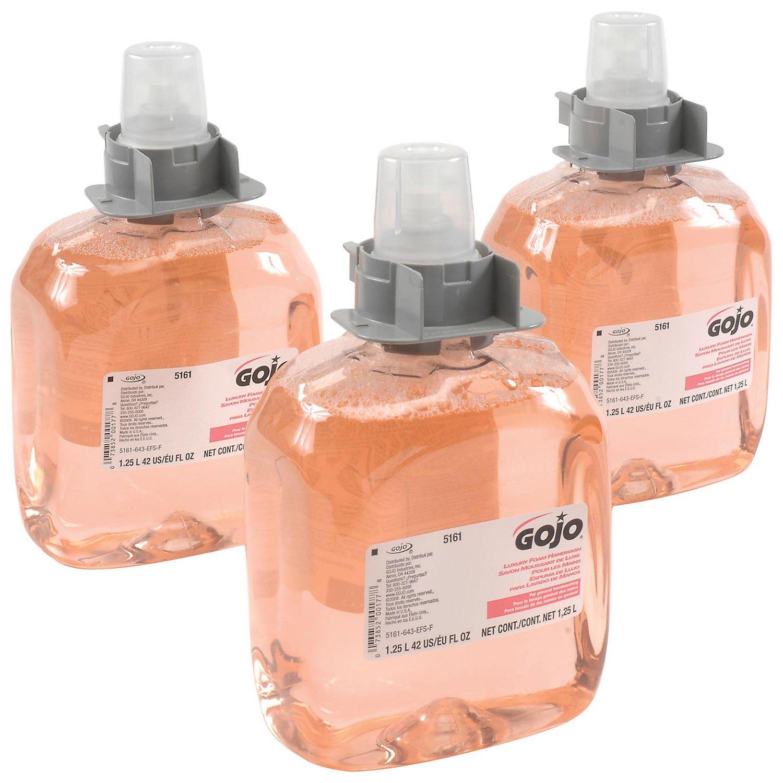 Gojo 5161-03, FMX-12 Foam Soap, 3 Refills/Case, Pink