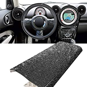 YGMONER Bling Crystal Rhinestone DIY Car Decoration Sticker, Available in Eleven Colors! 9.4 x 7.9'' (Black)