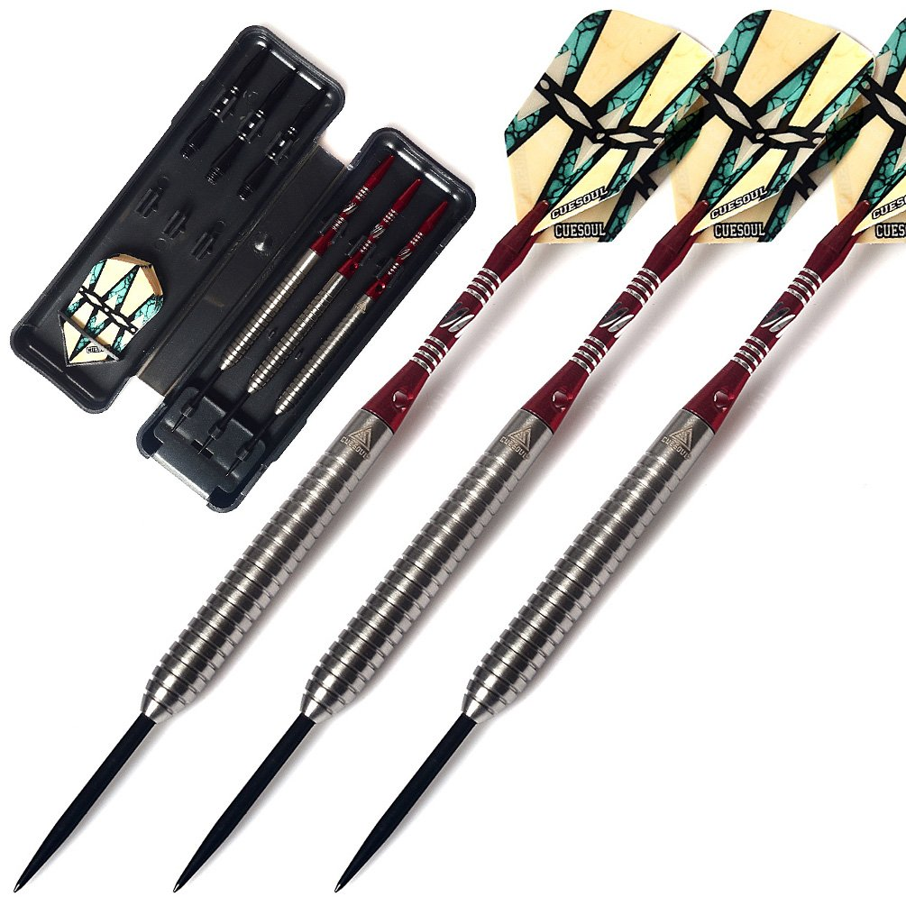 CUESOUL 21 Grams Tungsten Steel Tip Darts Set 90% Tungsten