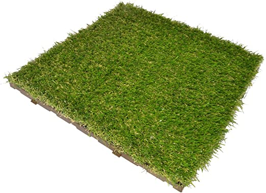 ONEK X72 - Césped sintético de baldosas modulares, 40 x 40 cm, 11, 5 m², jardín Greenplate: Amazon.es: Jardín