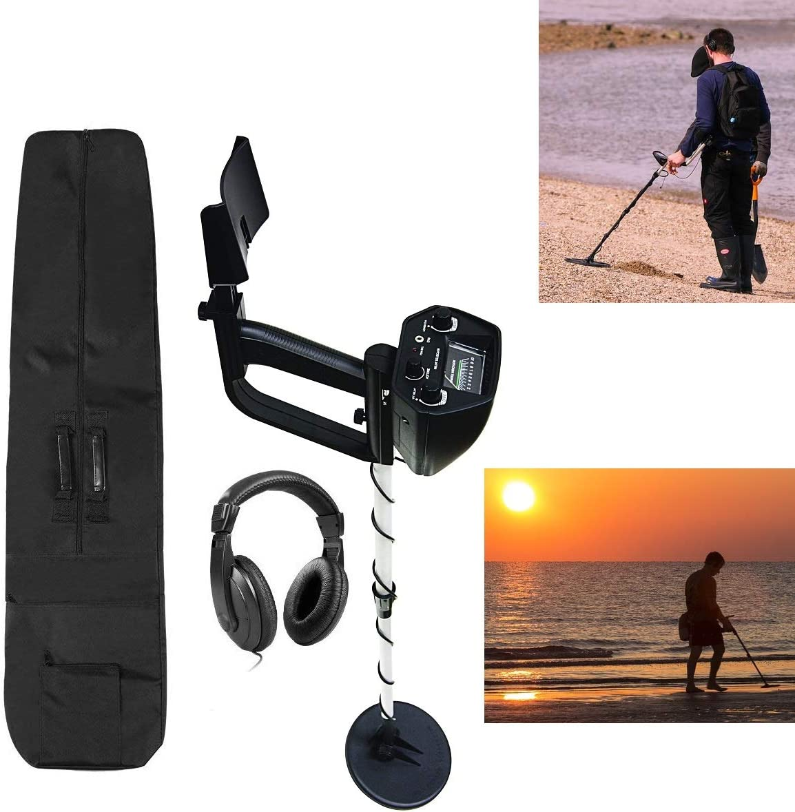 AMERICAN HAWKS Explorer Metal Detector | Arm Support, View Meter, Waterproof Search Coil, Headphone, Bag, Batteries | Gold Silver Bronze Platinum | ...