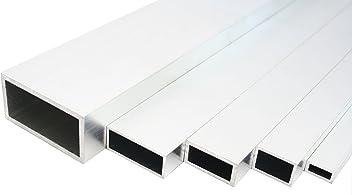 Aluminium Rechteckrohr Walzblankes Vierkantrohr 50x25x2 mm 1500mm