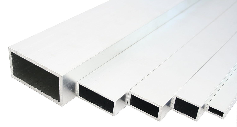 Aluminium Rechteckrohr Walzblankes Vierkantrohr 120x20x2 mm 500mm