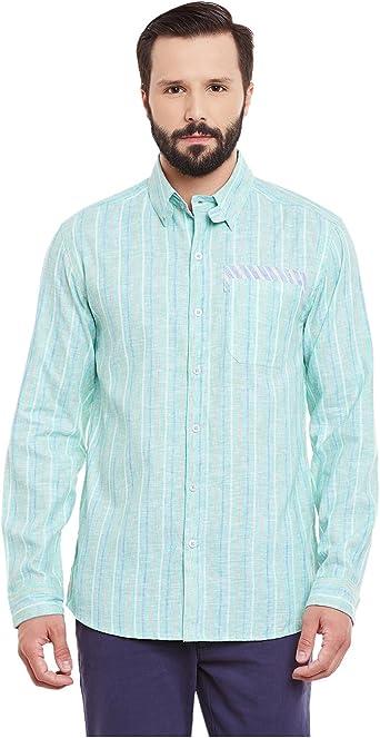 Yepme - William Lino Camisa Azul - Verde: Amazon.es: Ropa y ...