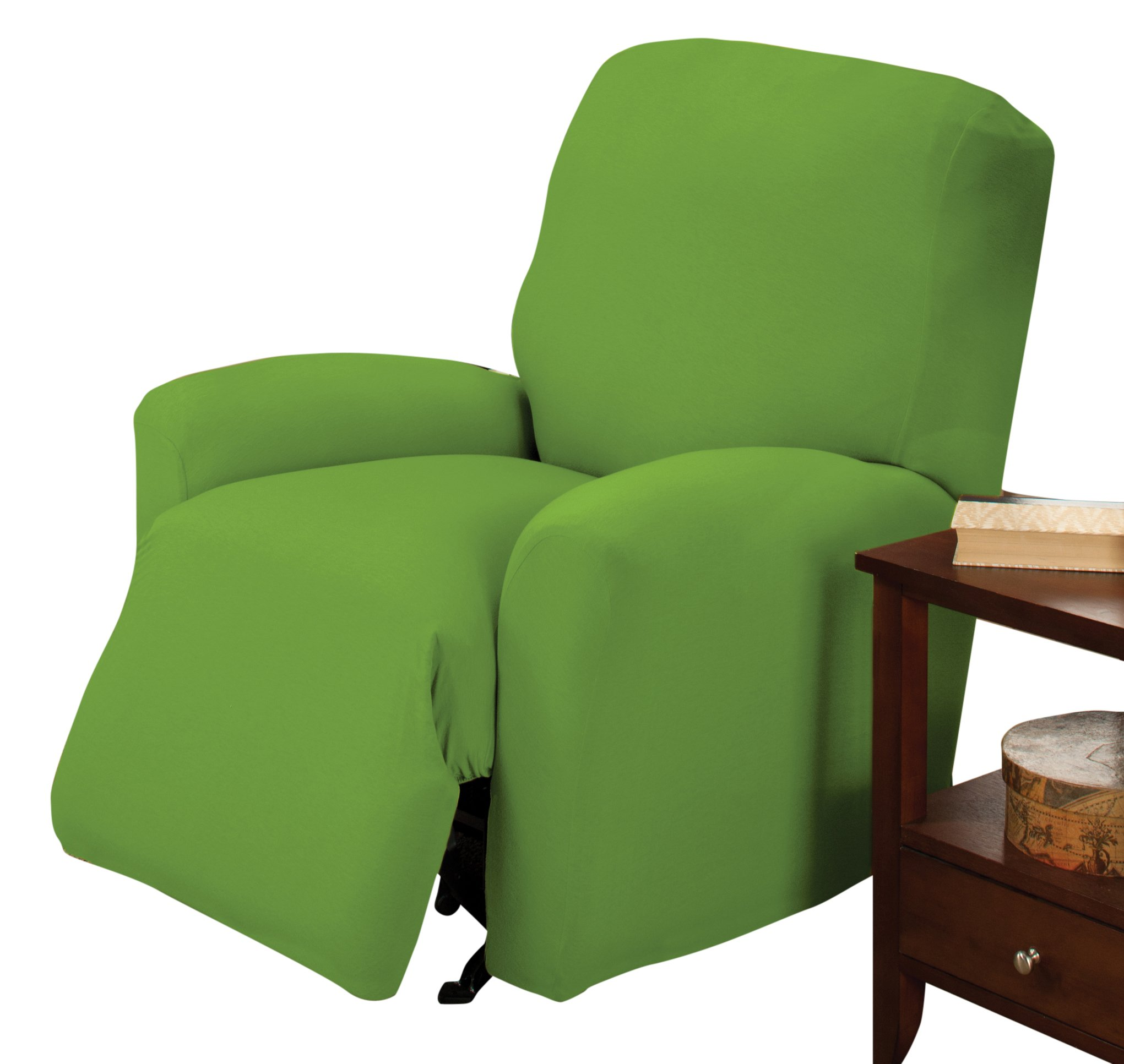 Madison Stretch Jersey Slipcover, Large, Solid, Lime