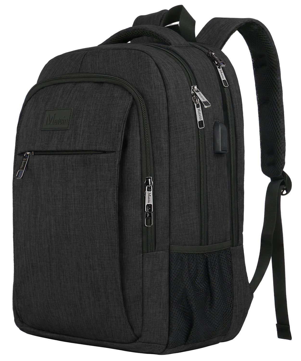 Business Laptop Backpack, Matein School BookBag for Student Durable College Backpack for Men Women Adults Teens, Water Resistant Lightweight Travel Daypack Computer Bag Fits 15.6-Inch Laptop&Notebook