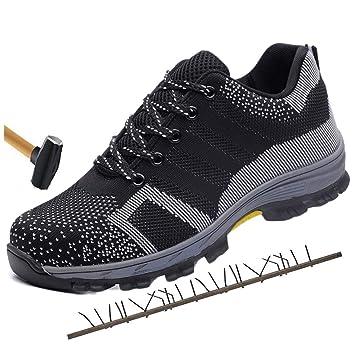 Dxyap Zapatillas de Seguridad,Calzado de Seguridad para ...