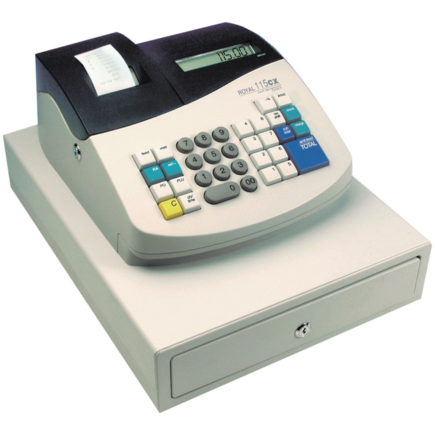 Amazon.com : Royal Cash Register (115CX) : Battery Operated Cash Register :  Office Products