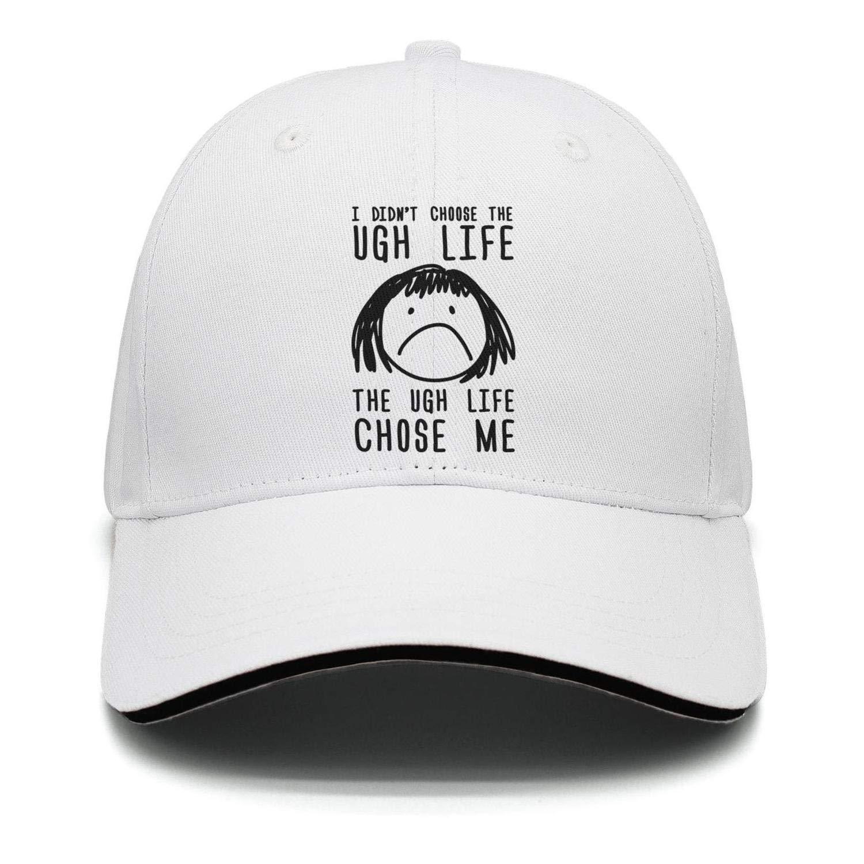 Fiexf Men Women Hiphop Hat Breathable Just Ugh Black Letter Print